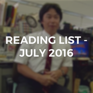 JULY2016READINGLIST